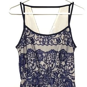 Collective Concepts Dress Strappy Lace Overlay